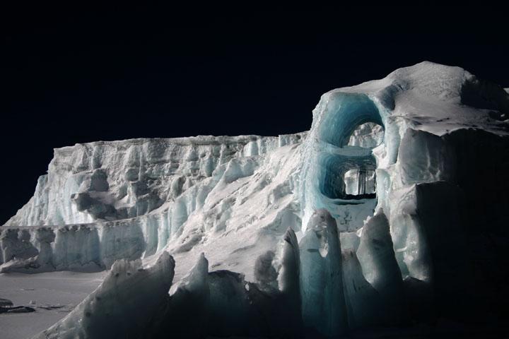 Gletscherschmelze am Kilimanjaro
