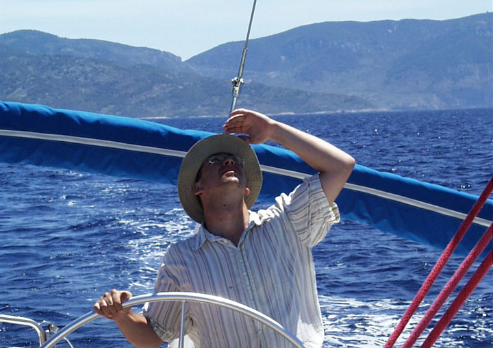 Thomas Böhm beim Segeln in Kroatien mit www.segeltoni.at