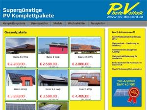 Preiswerteste Photovoltaikanlagen auf www.pv-diskont.at